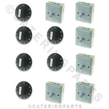 SET OF 6 PACK EGO 50.57021.010 230V REGULATORS & 6 x THERMOSTAT KNOBS 1-10