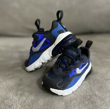 Baby Infant Boys Nike Air Max 270 React Trainers Shoes Navy Blue Size 5.5