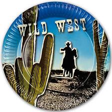 6 Wild West Western Cowboy Saloon Birthday Party 23cm Paper Dinner Plates