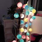 10/20/30 Cotton Balls Fairy LED String Lights Party Patio Wedding Home Decor
