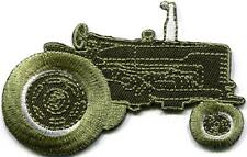 Tractor crawler plow farm truck farmer retro applique iron-on patch new S-1131