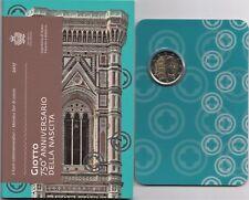 2017 San Marino 2 Euro Commemorativo 750 Anni Nascita Giotto Fior di Conio Unc