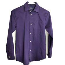 Chaps Boys Sz 12 Purple Long Sleeve Button Up Collar Shirt Dress Shirt