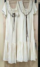 Vintage Gilligan O'Malley Maxi Gown Robe Set Medium Beige Brown Saks