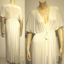 NWT Plus Size L XL 2XL NEW Off-White Ivories Siam Trendy Sleeve Long Maxi Dress