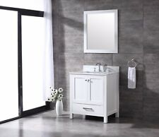 ALL WOOD High End White Or Espresso Shaker 30 Inch Bathroom Vanity 36%