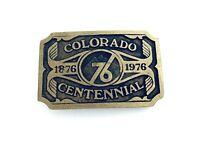Colorado Centennial 1876 - 1976 Solid Brass Belt Buckle Made in USA, Mint