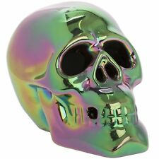 Skull LED LIGHT UP Eye Changes Colour Lesser & Pavey Metallic Art /Box Free Dely