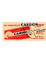 BUVARD / BLOTTING PAPER CHOCOLAT CARDON ROUGE A CROQUER CHOCOLATE TOP