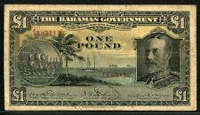 Bahamas 1919 ( 1930 ) , 1 Pound, P7, King George V RARE