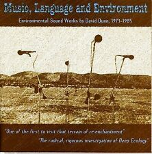 David Dunn 2 CD Music, Language And Environment 1973-85 Experimental Innova