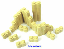LEGO / 30 Pieces 1x2 beige / Palisade / Wellenstein