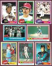 1981 Topps 25/ $.99 You Pick Complete Your Set #s 5 9 10 11 15 16 ...721 723