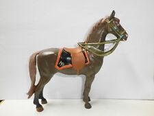 seltenes Kunststoff Pferd für 10cm Mountie Canadier Polizist Hausser Elastolin