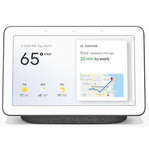 Google Nest Hub with Google Assistant (GA00515-US) - Charcoal