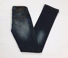 Bisou d eve jeans donna slim w24 tg 38 ragazza girl usati blu denim dritti T2117