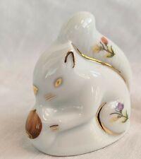 Limoges Miniature Porcelain Squirrel Figurine