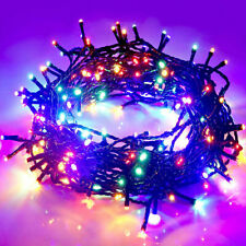 Waterproof String Fairy Lights 100 9M LED multicoloured Battery Power in outdoor