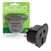 KORJO! Worldwide Multi Reverse Plug Adaptor From India/South Africa to AUSTRALIA