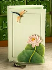 """Ibis & Orchid """"Dragonfly & Waterlily"""" Key Cabinet"""