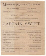 *MAURICE BARRYMORE AGNES BOOTH ANNIE RUSSELL RARE 1889 CAPTAIN SWIFT PROGRAM*