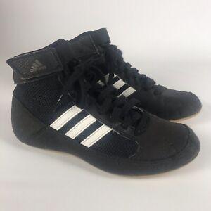Adidas HVC 2 Youth Jr Wrestling Shoes - Boys Size 2 - Black AQ3327