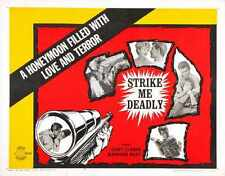 Strike Me Deadly Poster 01 Metal Sign A4 12x8 Aluminium
