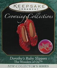 1999 Hallmark Dorothy's Ruby Slippers Ornament Wizard of Oz Wonders in Miniature