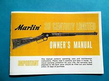 MARLIN MODEL 39 CENTURY LIMITED 22 CALIBER LEVER ACTION RIFLE OWNERS MANUAL
