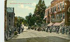 West Virginia, WV, Morgantown, Main Street Early Postcard