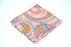 Lord R Colton Masterworks Pocket Square - Gold Orange Sumpremacy Silk - $75 New