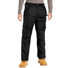 DuraDrive Black Tradesman Cargo Work Pant with Kneepad Insert Pockets