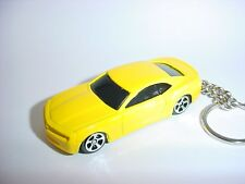 NEW 3D YELLOW CHEVROLET CAMARO SS CUSTOM KEYCHAIN keyring KEY CHAIN ss BEE BLING