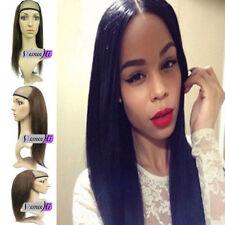 Remeehi Half wig 100% remy human hair silky straight hair weft cap
