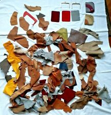 Assorted Leather Offcuts and Purse Parts for Crafting - approx 1kg