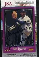 Bert Blyleven 1989 Score JSA Coa Autograph Authentic Hand Signed