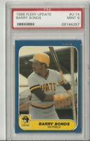 1986 Fleer Update #U-14 Barry Bonds Rookie Card PSA Mint 9