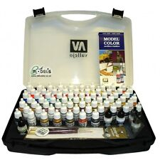 Vallejo Modelo Color acrílicos Set Hobby Gama Carry Case VAL70172