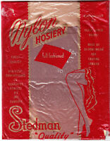 1 pair of VINTAGE SEAMED NYLON STOCKINGS - SIZE 10, FULL FASHIONED