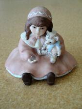 Jan Hagara Porcelain Crystal Miniature Figurine N0005 with Tag 1990 Ltd Edition
