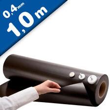 Eisenfolie Ferrofolie weiß glänzend 0,6mm x 31cm x 100cm
