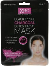 XBC Black Tissue Charcoal Detox Facial Face Mask - With Hyaluronic Acid