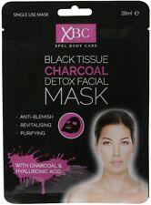 Tejido Xbc Negro Carbón Detox Facial Cara Máscara-con ácido hialurónico