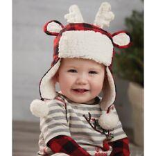 Mud Pie H0 Alpine Village Baby Buffalo Check Reindeer Hat 16010079 Choose Size