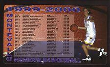 Montevallo Falcons--1999-00 Basketball Magnet Schedule