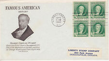 FDC FIRST DAY COVER 1940 FAMOUS AMERICAN GILBERT C. STUART ARTIST GRIMSLAND CACH