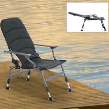 Outsunny Folding Carp Camping Chair Fishing Heavy Duty Hiking Adjustable Leg