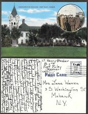 1943 Kansas Postcard - Fort Riley - Military Free Frank