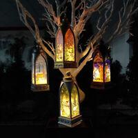 Claus Castle Pendant Ornament LED Light Hanging Decor Lamp Christmas Lantern