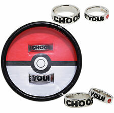Pokemon Pokeball I Choose You Best Friends BFF Bestie Costume Ring Set 6 & 10